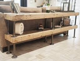 Modern Sofa Table Oklahoma Furniture Galvanized Pipe And Salvaged Door Bitandbolt