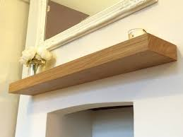 Floating Fireplace Mantels by Solid Oak Floating Mantle Shelf Fireplace Mantel Shelves 45mm