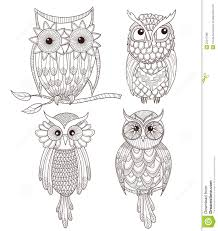 set of cute owls royalty free stock images image 25217389