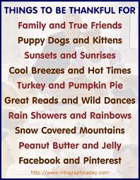 thanksgiving infographic things to be thankful for infographic
