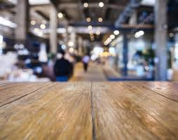Counter Bar Top Table Top Counter Bar Blurred Shop Retail Background U2014 Stock Photo