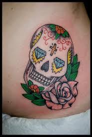 hip sugar candy skull tattoo rose tippingtattoo