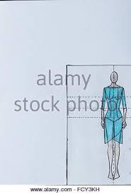 handmade fashion sketch fashion draw of elegant woman long dress