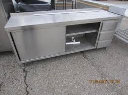gastroküche gebraucht edelstahlschrank schubladen arbeitstisch gastro küche kantine 2 x