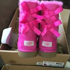 ugg boots sale bailey bow 18 ugg boots pink bailey bow uggs from salma s closet on