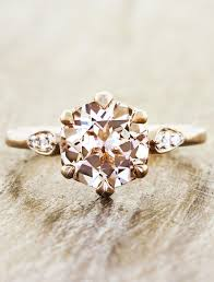 pink morganite rosanne pink morganite on gold band engagement ring ken