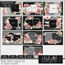 5x7 brag book brag book layered templates pack no 3 commercial use cu