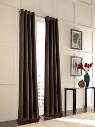 Large Pattern Curtains by Decoration Window Treatment With Window Drapes And Cream Brown