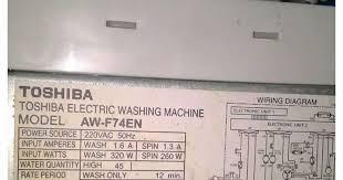 mesin cuci toshiba aw f74en program spin error