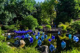 Denver Botanic Gardens Denver Co Blue And Purple Boat Walla Wallas Dale Chihuly Exhibition