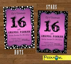 extraordinary sweet 16 invitation cards 31 with additional
