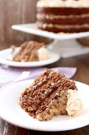 german chocolate cake with rum glaze and buttercream creative
