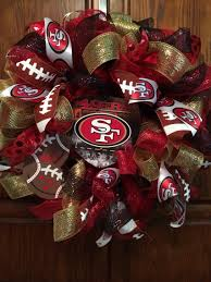 san francisco 49ers deco mesh wreath jenny lee wreaths