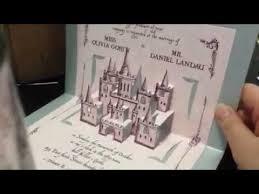pop up wedding invitations pop up castle wedding invitation