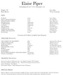 Sample Resume For Download by Sample Actor Resume Resume Cv Cover Letter Resume Template