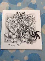 zentangle pattern trio trio with plum lei tangle zentangles doodles and tangled