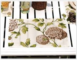 make your own placemats napkins how to decorate