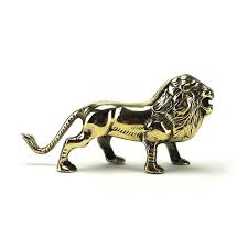lion figurine vintage brass lion figurine safari gold animals