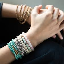 rose stone bracelet images Amazonite stone bracelet stone of courage scout curated wears jpg