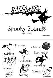 halloween action verbs flashcards a set of halloween action