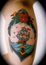 ships and sea life tattoos tatring