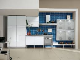 painted kitchen cabinet ideas freshome blue and white kitchen