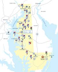 Eastern Shore Virginia Map by Chesapeake Wine Trail Map U0026 Wineries