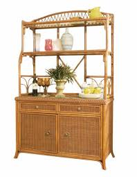 bakers rack with cabinet wicker bakers rack wicker paradise
