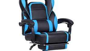 Blue Computer Chair Gtracing Pu Office Chair Racing Chair Backrest And Seat Height