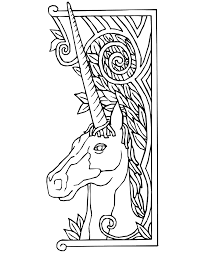 unicorn coloring pages for kids unicorn coloring page unicorn with fancy border unicorn