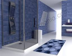 tappeti da bagno tappeto bagno assorbi goccia blue
