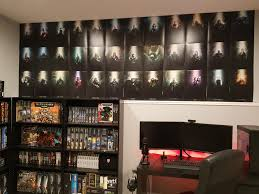 i decided to add some of my artwork to my gaming room wall and it