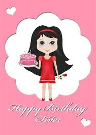 free birthday cards for classy sister bday wishes cakes
