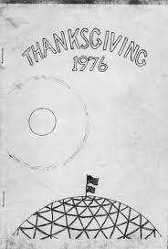 1976 thanksgiving day menu