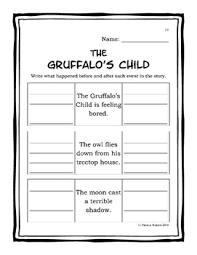 the gruffalo u0027s child companion worksheets by patricia watson tpt