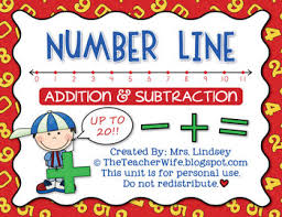 number line addition u0026 subtraction by the teacher wife tpt