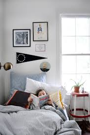 Simple Bed Frame West Elm Room For Creativity In A Boys Room Front