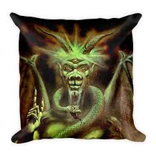 Satanic Home Decor Throw Pillows The Luciferian Apotheca Your Satanic Left Hand