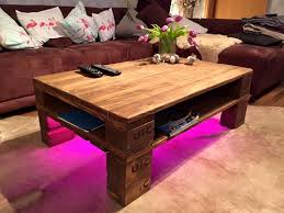 Coffee Tables With Led Lights Rustic Pallet Coffee Table Led Lights 101 Pallets Pellet