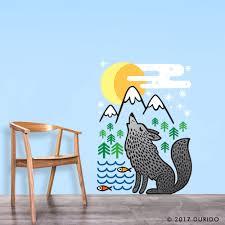 Wilderness Home Decor Wall Decal Wolf Wall Sticker Animal Vinyl Sticker Home