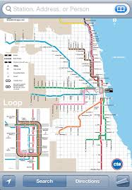 cta line map itrans cta l iphone app directions schedules tracker