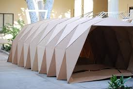 Cardboard Origami - origami inspired cardboard homeless shelters to help get t