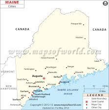 map of maine cities maine city map major cities of maine usa maps
