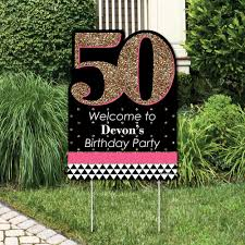 50th birthday party decorations chic 50th birthday pink black and gold party decorations