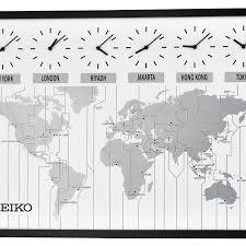 Jcpenney Clocks Seiko Classic Six City World Time Wall Clock Qxa538klh