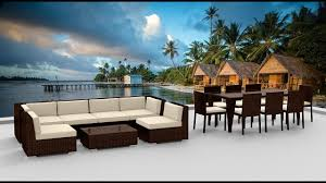 How To Build Patio Furniture Sectional - 16 piece outdoor dining and sofa sectional patio furniture set