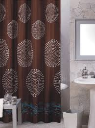 Brown Floral Shower Curtain Carnation Home Fashions Inc Fabric Shower Curtains