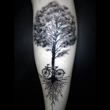amazing bicycle chain tattoo designs