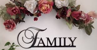 Family Home Decor Family Sign Metal Family Sign Wall Decor Gift Home Decor