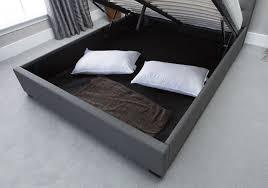 ottoman beds with mattress emporia kensington 5ft kingsize grey fabric ottoman bed by emporia beds